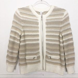 RUC Chico's chunky knit zippered sweater jacket
